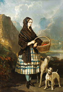 Art Prints of Scottish Deerhound and Staffordshire Terrier by Alfred de Dreux