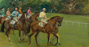 Art Prints of Parade to the Post, Kempton Park by Alfred James Munnings