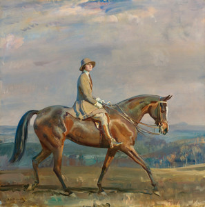 Art Prints of Portrait of Mrs. Margaretta Park Frew Riding by Alfred James Munnings