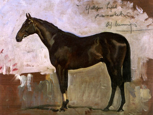 Art Prints of Anthony de Rothschild's Galloper Light by Alfred James Munnings