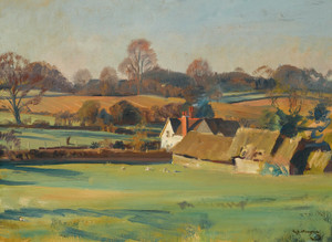 Art Prints of Steps Farm, Stoke-by-Nayland, Suffolk by Alfred James Munnings