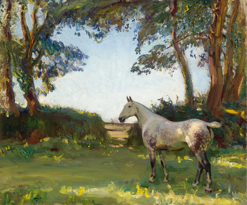 Art Prints of The Grey Mare by Alfred James Munnings