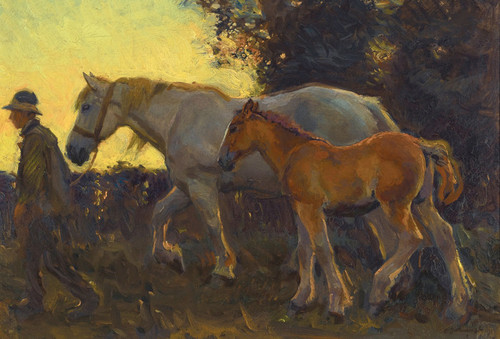 Art Prints of Wending Home by Alfred James Munnings
