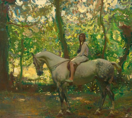 Art Prints of Marjory or Girl on Horseback by Alfred James Munnings
