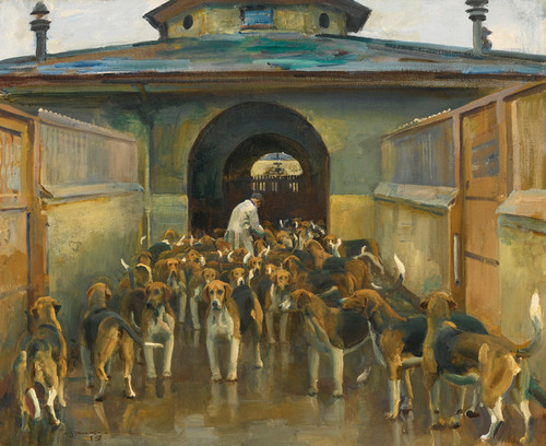 Art Prints of The Belvoir Kennels by Alfred James Munnings