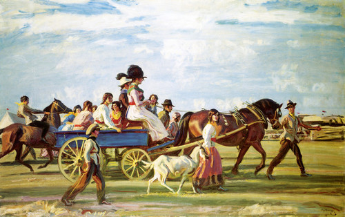 Art Prints of Gypsies Arriving at Epsom by Alfred James Munnings