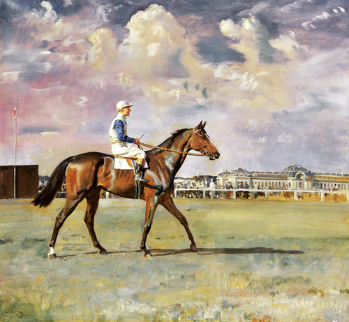 Art Prints of Mack Willer with Jennings Up by Alfred James Munnings