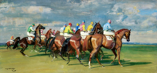 Art Prints of The Start by Alfred James Munnings