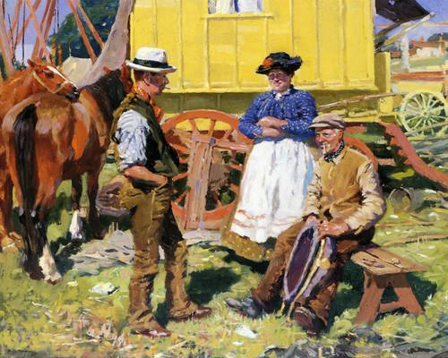 Art Prints of The Caravaneers by Alfred James Munnings