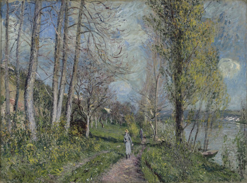 Art Prints of Banks of the Seine by Alfred Sisley