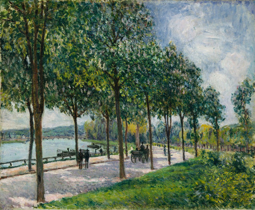 Art Prints of Allee of the Chestnut Trees by Alfred Sisley