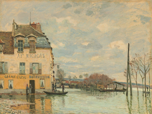 Art Prints of Flood at Point Marley by Alfred Sisley