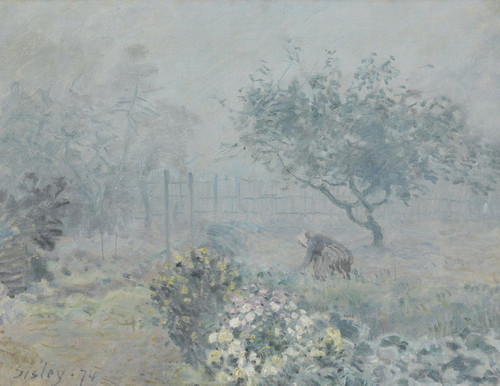 Art Prints of Fog, Voisins by Alfred Sisley