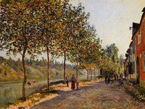 Art Prints of June Morning at Saint Mammes by Alfred Sisley