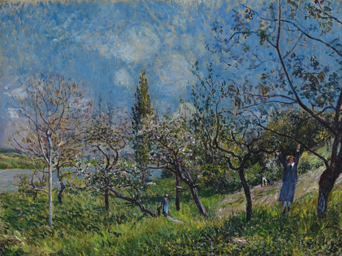 Art Prints of Orchard in Spring by Alfred Sisley