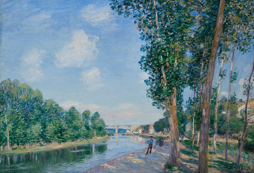 Art Prints of Saint Mammes, June Sunshine by Alfred Sisley