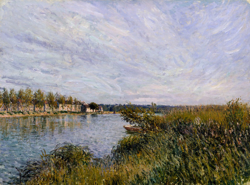 Art Prints of View of Saint Mammes by Alfred Sisley