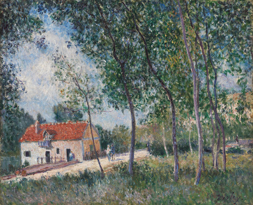 Art Prints of The Road from Moret to Saint Mammes by Alfred Sisley