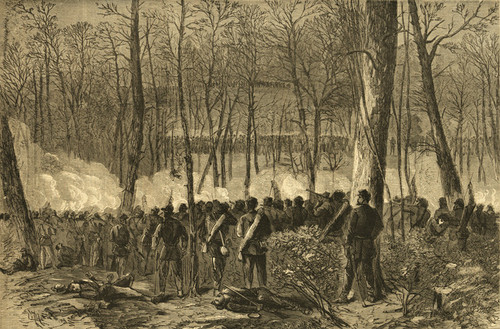Art Prints of Major General Wadsworth Fighting 1864, (20998L) by Alfred Waud