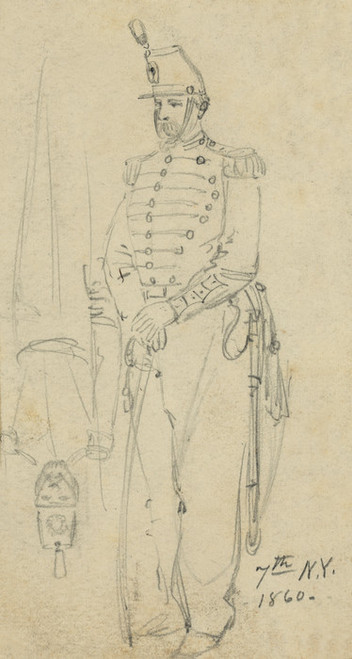 Art Prints of The 7th New York Cavalry Regiment Uniform (20839L) by Alfred Waud