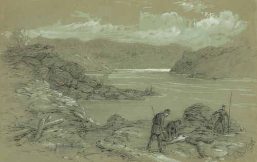 Art Prints of The Slain in the Potomac River, 1861 (21071L) by Alfred Waud