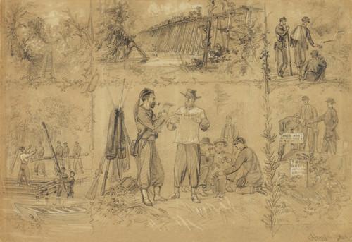 Art Prints of Scenes near Richmond July 1862 (21023L) by Alfred Waud