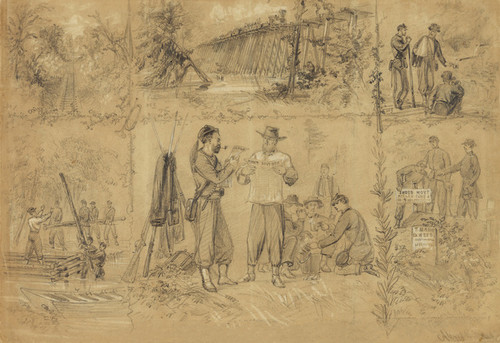 Art Prints of Scenes near Richmond July 1862 (21023L) by Alfred Waud