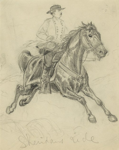 Art Prints of Sheridan's Ride, October 19, 1864 (21132L) by Alfred Waud