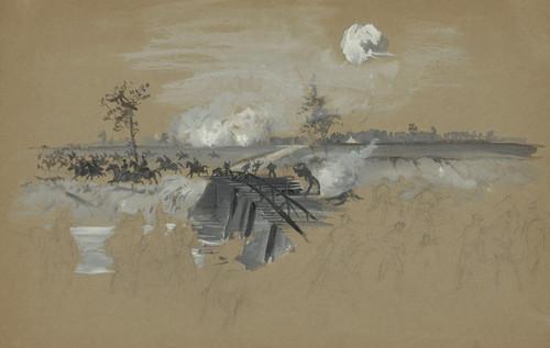 Art Prints of The First Gun at Chickamauga 1863 (21293L) by Alfred Waud