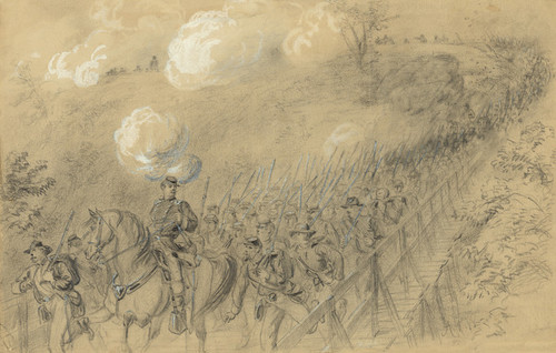 Art Prints of N.Y. 14th Heavy Artillery (21181L) by Alfred Waud