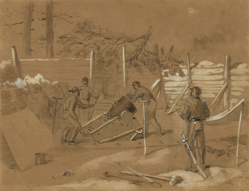 Art Prints of Captain Dow's Battery, 1864 (21472L) by Alfred Waud