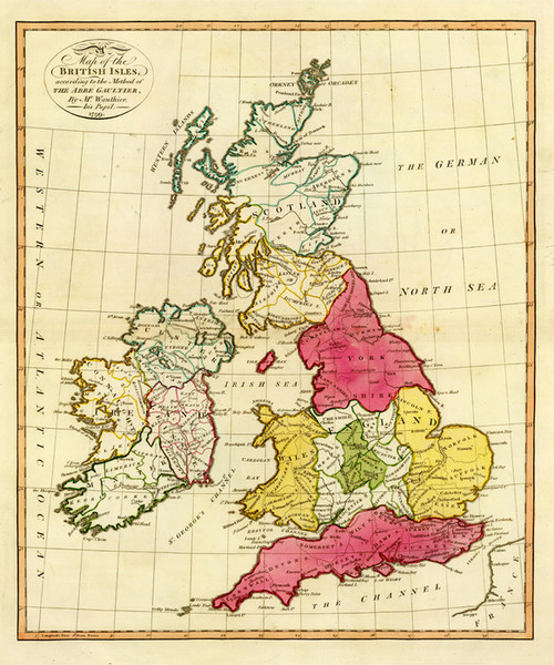 Art Prints of British Isles, 1799 (0294002) by Aloisius Gaultier and J.M. Wauthier