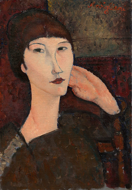 Art Prints of Adrienne, Woman with Bangs by Amedeo Modigliani