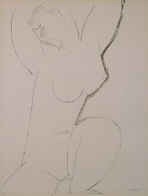 Art Prints of Caryatid by Amedeo Modigliani