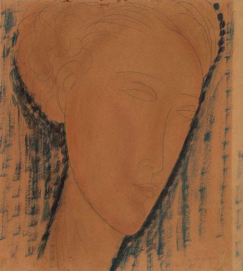 Art Prints of Head of a Girl by Amedeo Modigliani