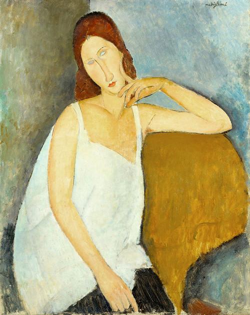 Art Prints of Jeanne Hebuterne by Amedeo Modigliani
