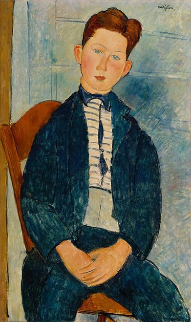 Art Prints of Boy in a Striped Sweater by Amedeo Modigliani