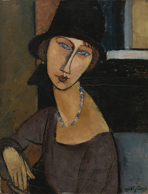 Art Prints of Jeanne Hebuterne in a Hat by Amedeo Modigliani