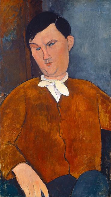 Art Prints of Monsieur Deleu by Amedeo Modigliani