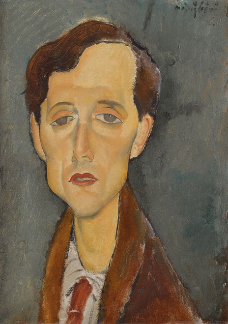 Art Prints of Portrait of Frans Hellens by Amedeo Modigliani