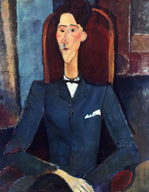 Art Prints of Portrait of Jean Cocteau by Amedeo Modigliani