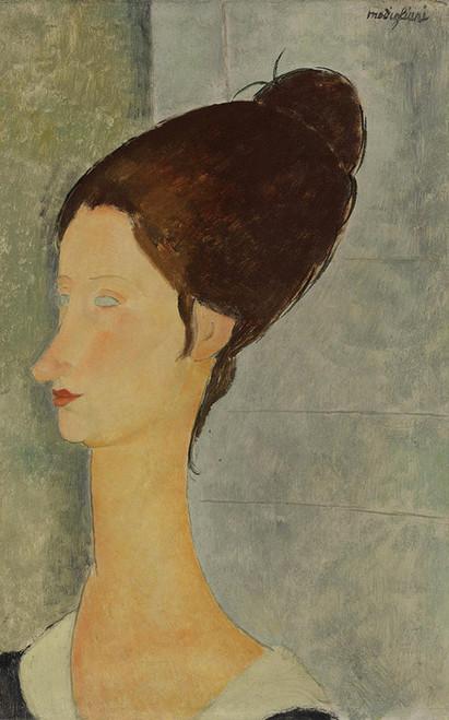 Art Prints of Portrait Jeanne Hebuterne by Amedeo Modigliani
