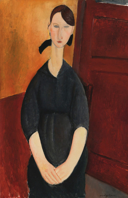 Art Prints of Portrait of Paulette Jourdain by Amedeo Modigliani