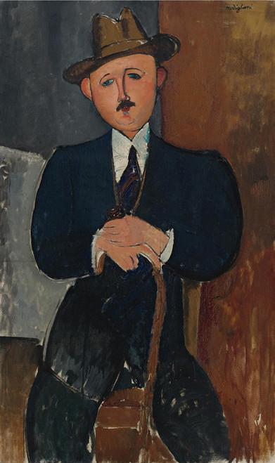 Art Prints of Seated Man by Amedeo Modigliani