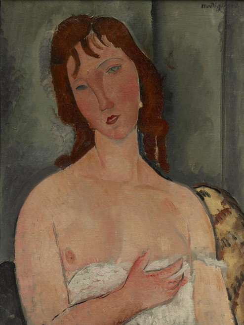 Art Prints of Portrait of a Young Woman by Amedeo Modigliani