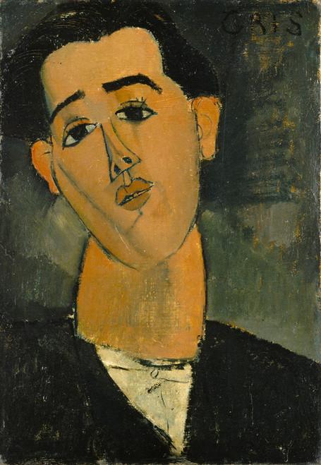 Art Prints of Portrait of Juan Gris by Amedeo Modigliani