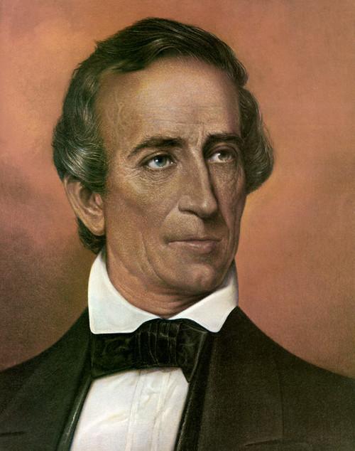 US President Portrait - 4 x 6 John Tyler Photograph Historical Artwork from 1860 - Gloss