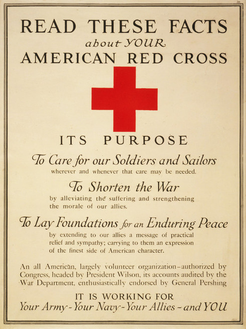 Art Prints of Read These Facts About the American Red Cross by American Red Cross