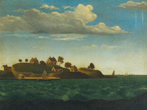 Art Prints of Painting of a Maine Island, Casco Bay, Maine, American School