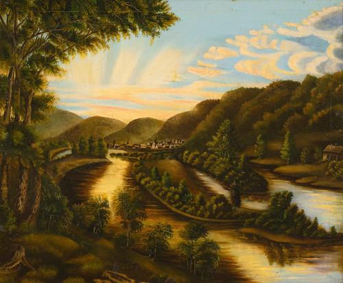 Art Prints of A View of Blennerhasset Island, West Virginia, American School